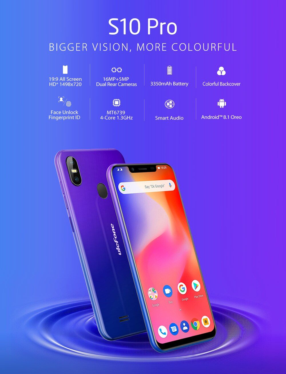 Ulefone S10 Pro Mobile Phone Android 8 1 5 7 Inch 19 9 Mt6739 Quad Core 2gb Ram 16gb Rom 13mp 5mp Face Unlock 4g Smartpho Phone Smartphone Android Smartphone