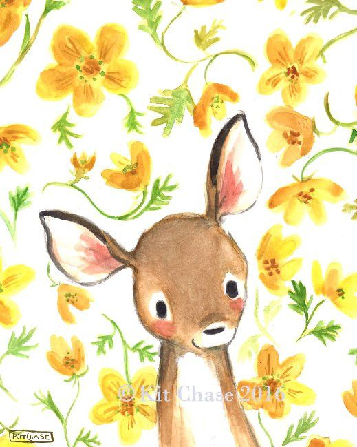 Add a Bohemian splash of color to your little fawn's room with this sweet, hand-painted print!art print from an original watercolor, gouache, and acrylic painting by Kit Chase.archival matte paper and inkvertical printships worldwide from the U.S.watermark will not appear on purchased print.This image is protected by copyright and is the property of Kit Chase and LullaLoo, LLC. Any reproduction, reselling, or distribution of this image without written consent is prohibited.