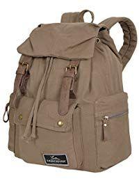 e2dccb8a3 Mochila de lona Hombre Daypack:: compartimento Principal bolsillos  laterales delantero:: lona Vintage