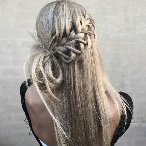 Hair Accessory Tumblr Hair Hairstyles Long Hair Blonde Hair Braid Gorgeous Hair Hairdo Short Hair Styles