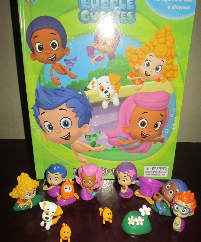Attrayant NEW Bubble Guppies Book Playset And Toy PVC Figures Lot Deluxe Play Set