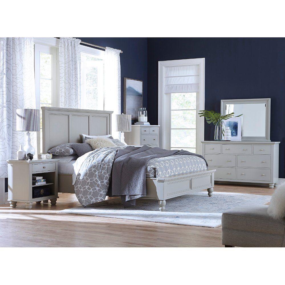 Best Classic Gray 4 Piece Queen Bedroom Set Cambridge Cheap 640 x 480