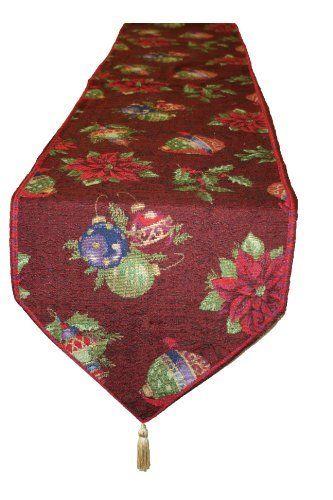 13 x 70 Silver Violet Linen Emblem Vintage Damask Design Table Runner