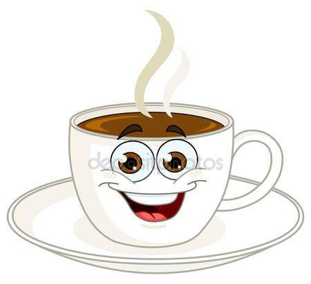 Dibujos animados de taza de café — Archivo Imágenes Vectoriales ...