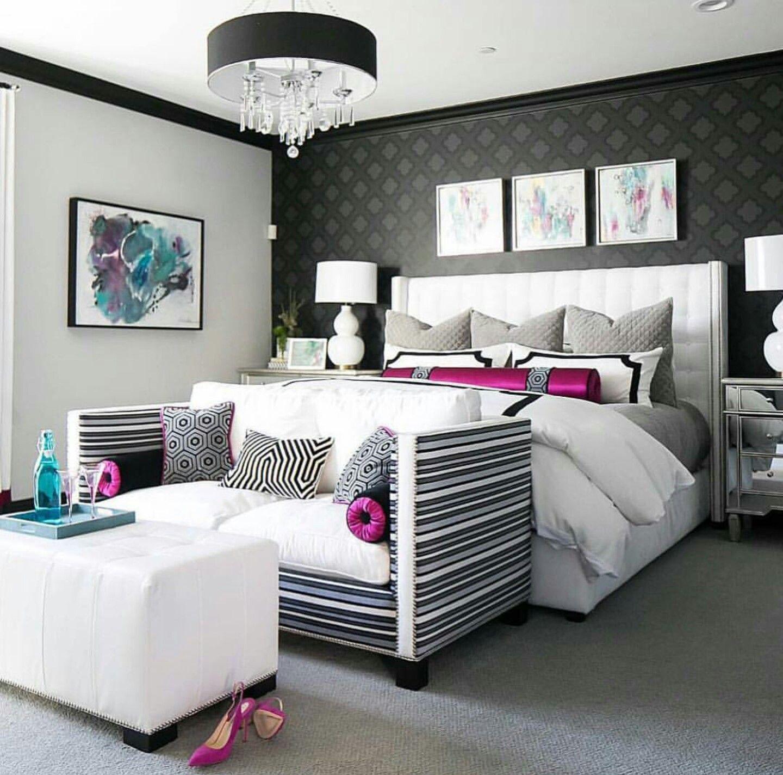 Best Gray Black White Pink Teal Luxury Bedroom Master Luxury 640 x 480