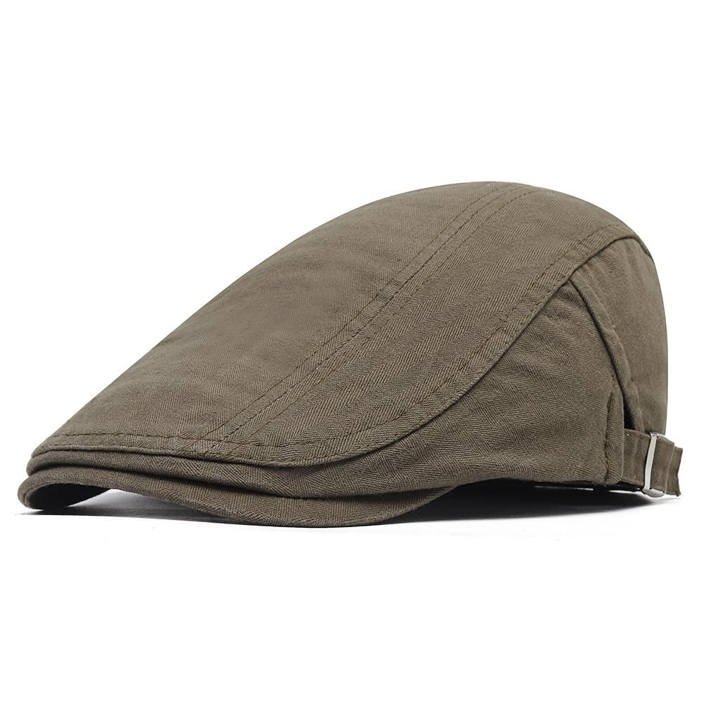 Description: Style: Beret Hat Gender: Men,Women Material: Cotton Occasion: Casual, Outdoor Features: Sunshade,Washed,Adjustable Season: Spring, Summer, Autumn, Winter Color: Army Green,Beige,Black, Grey, Khaki,Coffee Detail In Size: One Size Hat Depth: About 13 cm / 5.11'' Hat Width: About 6 cm / 2.36'' Head Circumference: About 56cm~58cm / 22.04''~22.83'' (1cm=0.39inch) Package Included:1 * Hat Notice 1.Please allow 1-3cm error due to manual measurement. Please make sure you do not mind before