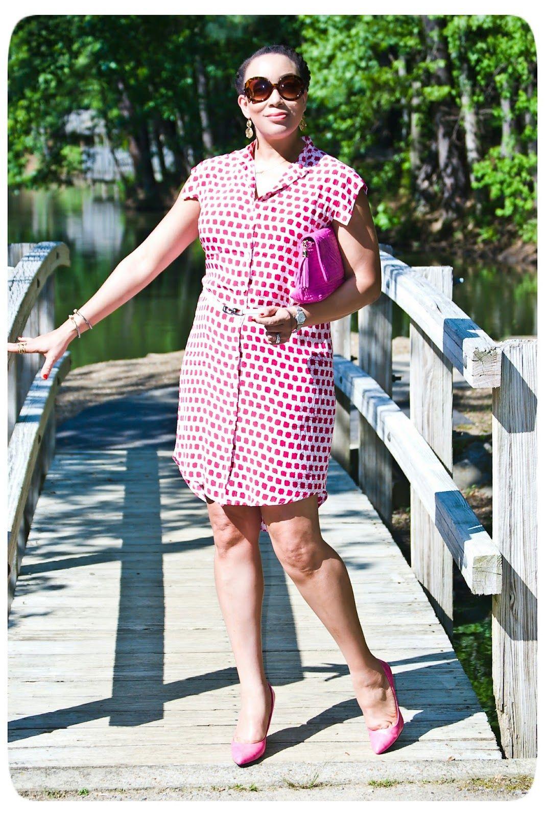 Silk Shirt dress - Erica B's - DIY Style!