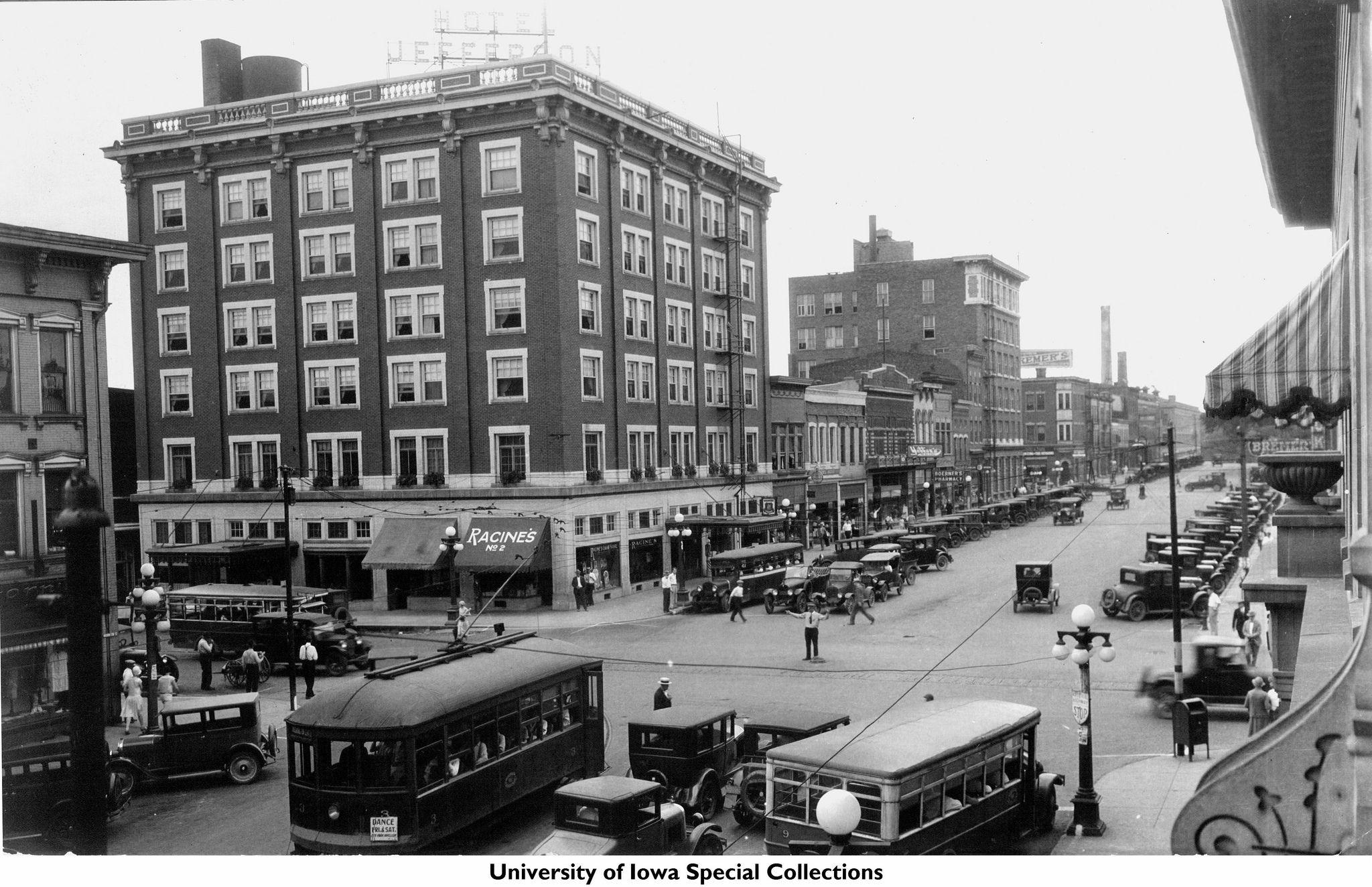 Racine S Hotel Jefferson Iowa City Iowa 1925 Iowa City