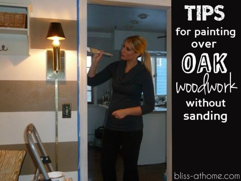 Tips for painting over oak trim without sanding  DIY Home