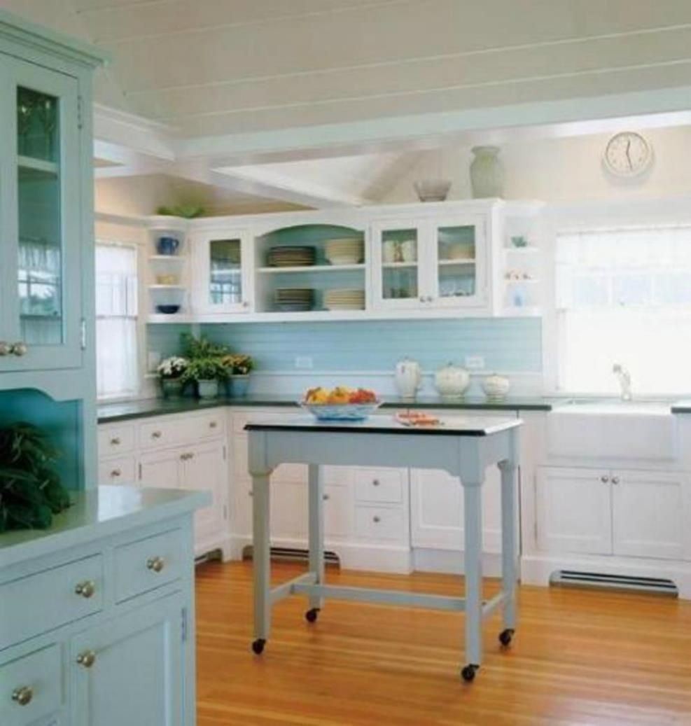 Kitchen Cabinet Ideas Beach House: 54 Charming Beach Cottage Interiors Kitchen Cabinet Ideas