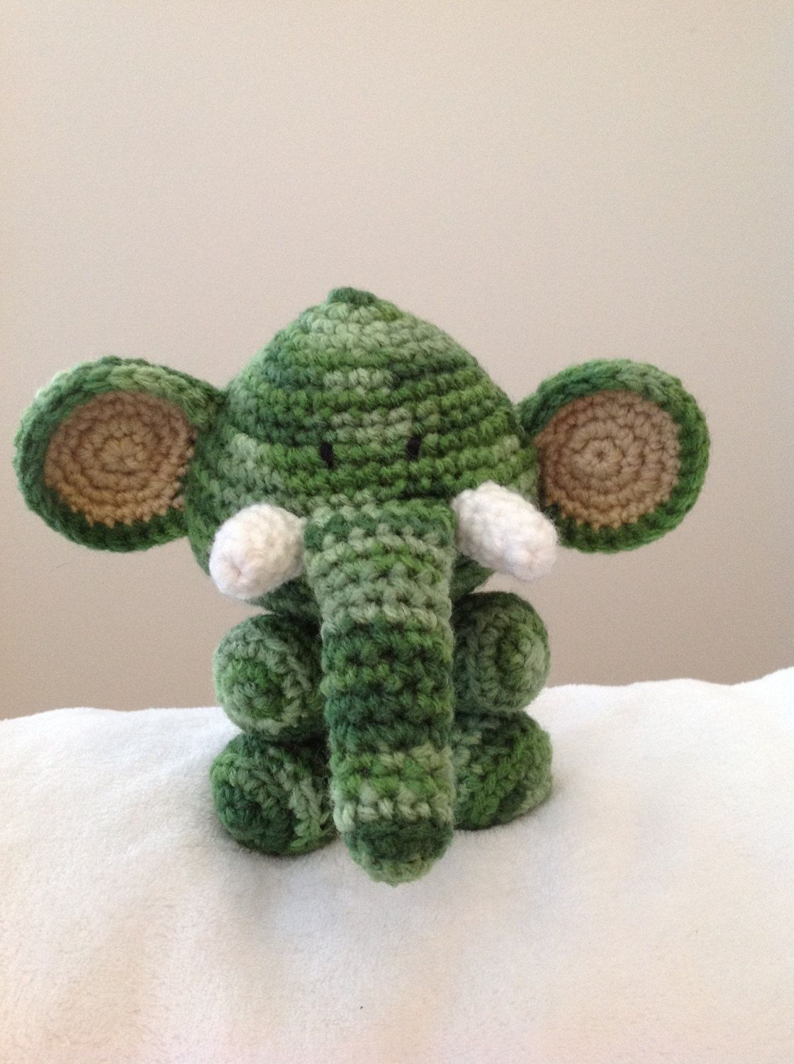 """Crochet Amigurumi Elephant by KrazyKabbage on Etsy"" #Amigurumi #crochet"
