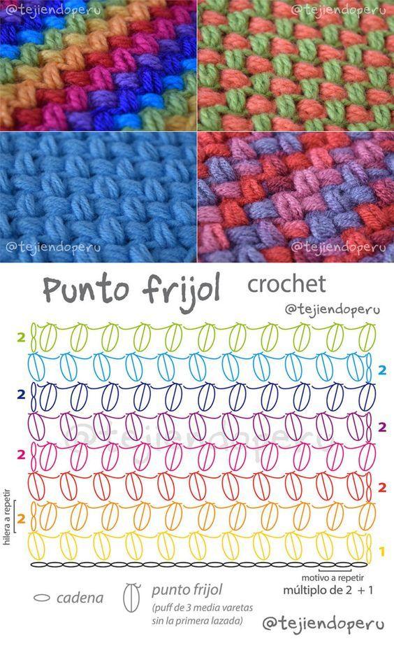 Bean Stitch Free Crochet Pattern | Crochet | Pinterest