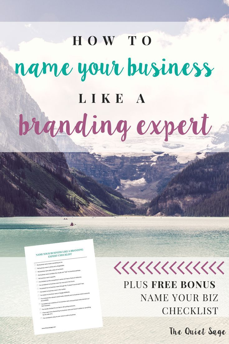 How to Name Your Business Like a Branding Expert | Pinterest ...