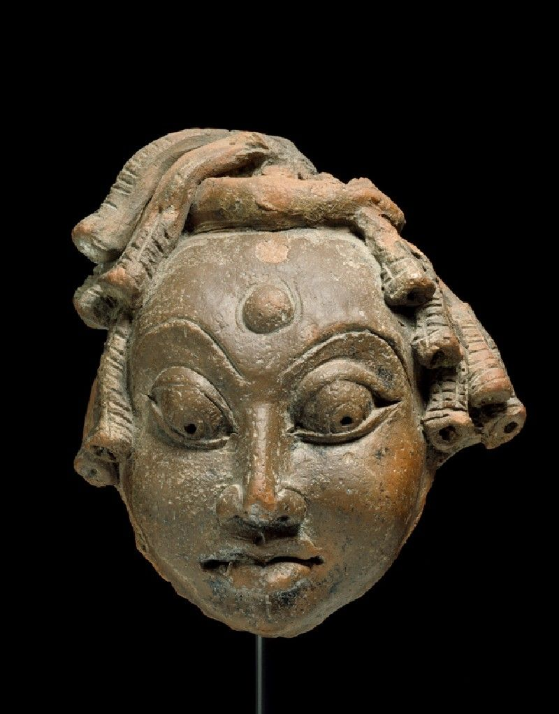 Head of Shiva as an ascetic north India, 5th century AD Mathura sculpture.  The Gupta aesthetic spread widely across the subcontinent, and it would underlie the later sculpture both of India and of lands far beyond her borders.