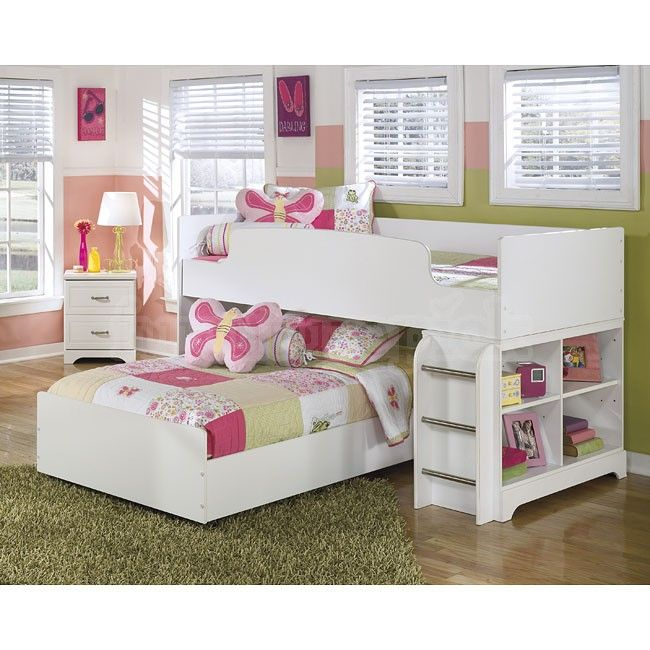 Etonnant Lulu Loft Bedroom Set Signature Design Ashley Furniture Twin Drawer Chest  Honey Finish Dcg Stores