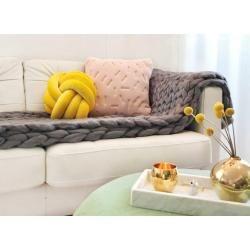 Wolldecke Cosima Chunky Knit medium 100x150cm, grau #babyheadbands