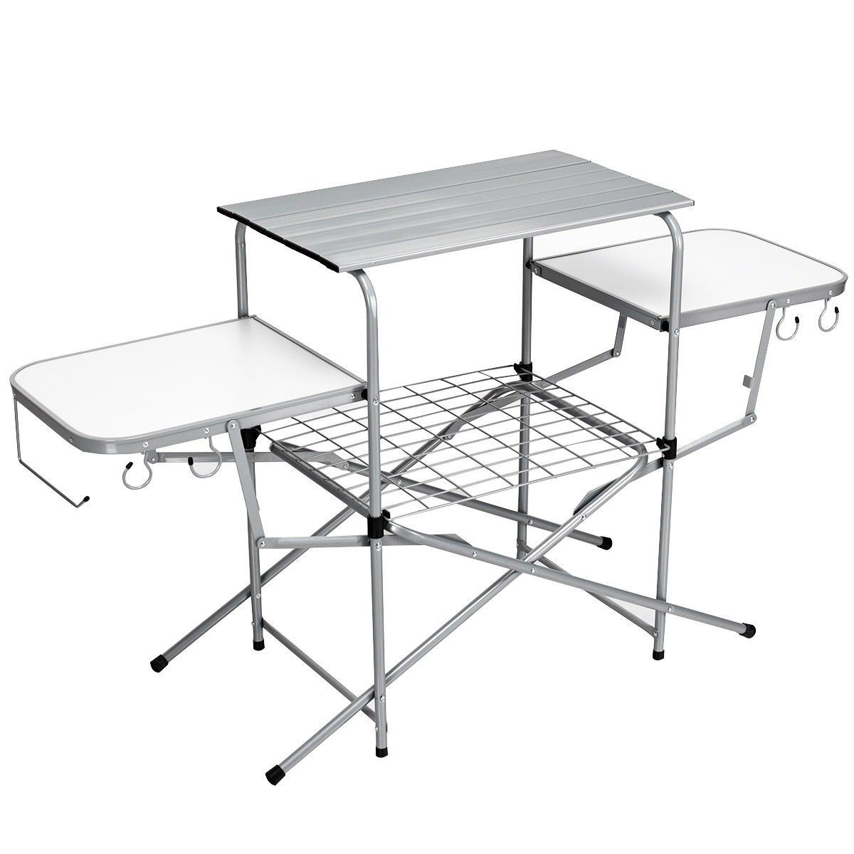 Foldable Outdoor Bbq Table Grilling Stand Camping Table Bbq Table Folding Bbq