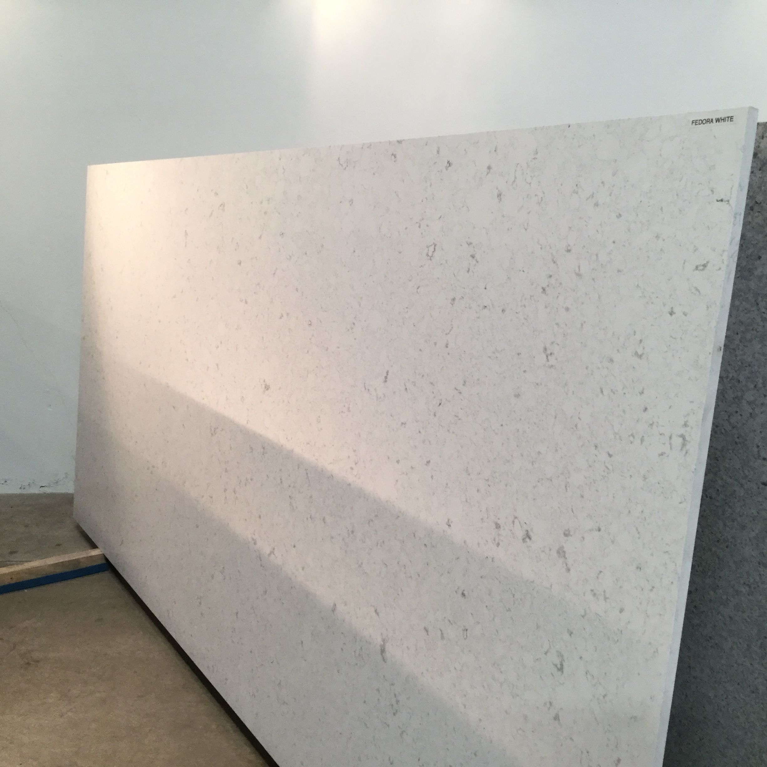 Fedora White, available in both slab and prefab #quartz
