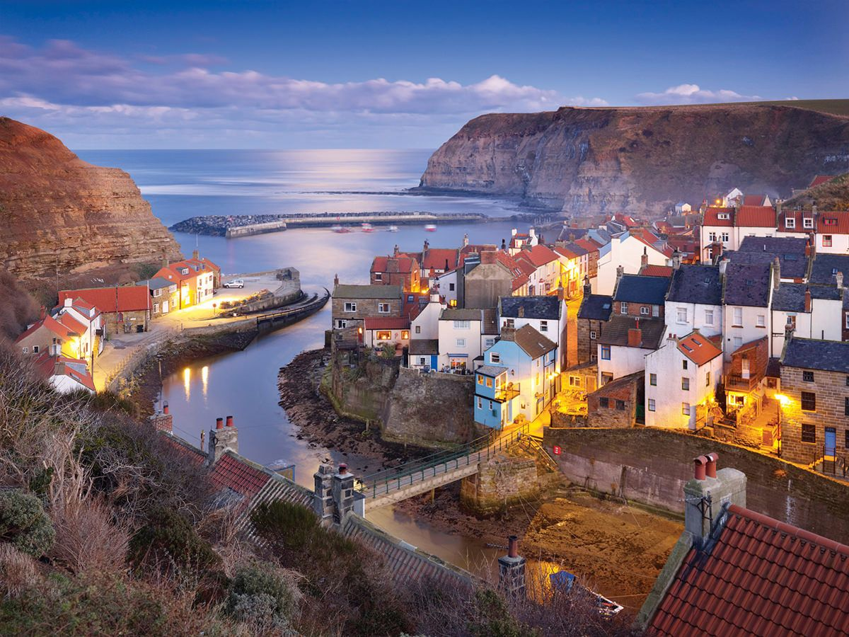 Staithes Winter Twilight Uk Places To Visit Pinterest Yorkshire England Yorkshire And