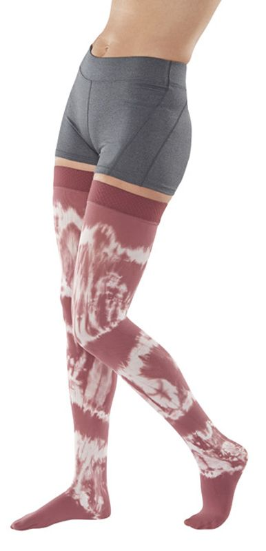 f3810d99b232b1 Juzo Soft Tie-Dye Compression Thigh Highs 15-20mmHg - Grateful Red # compression #thighhigh #grateful #red #stockings #compressionstockings #juzo  #dream ...