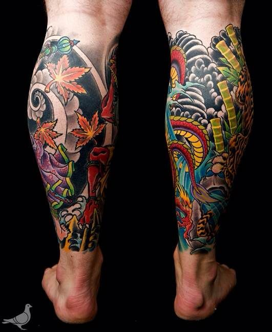 Japanese Leg Tattoos For Men Gallery