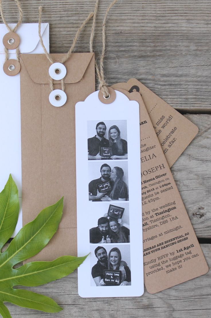Photo Booth Wedding Invitations Personalised Pinterest Photo