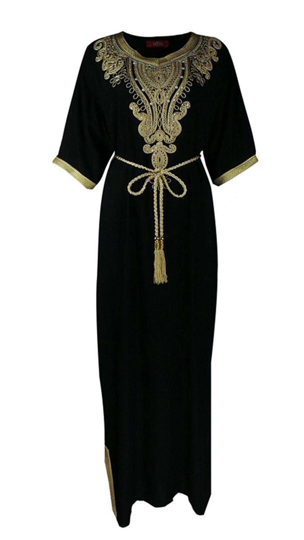 Women islamic clothing long dubai jalabiya dress moroccan kaftan