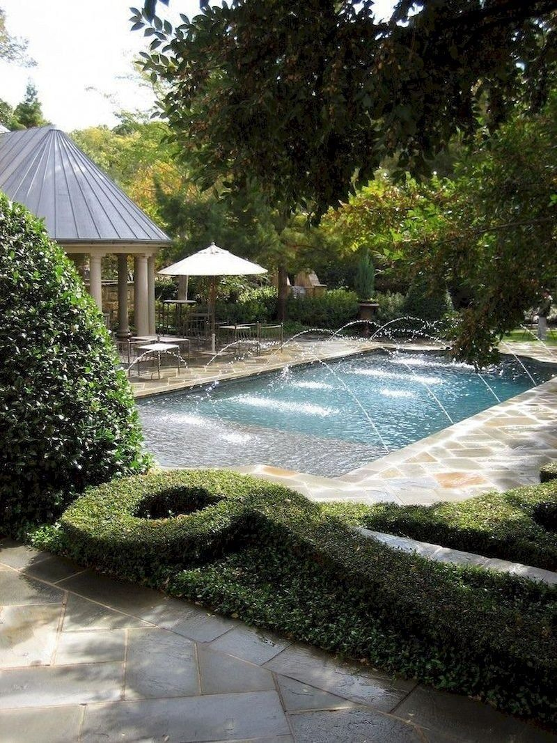 Cozy Swimming Pool Garden Design Ideas On a Budget 36 exterior #cozy #swimming #pool #garden #design #ideas #on #a #budget #36