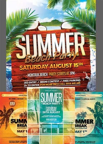 Get Summer Flyer Template  Facebook Cover Updated Download