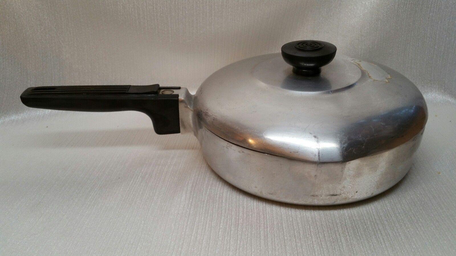 Vintage wagner ware magnalite 4506 p skillet w lid original lable ebay