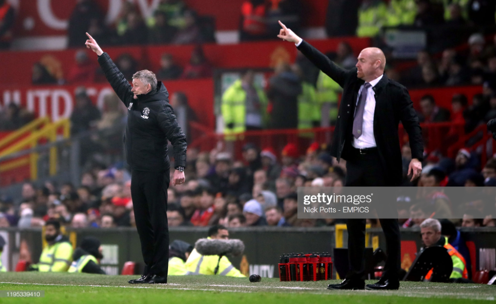 Burnley Manager Sean Dyche And Manchester United Manager Ole Gunnar In 2020 Manchester United Burnley The Unit