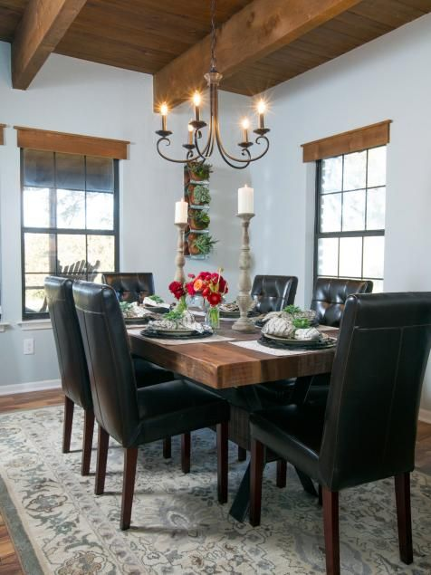 Fixer Upper: Country Farmhouse Goes From Scary To Sensational. Rustic  Dining RoomsFormal ...