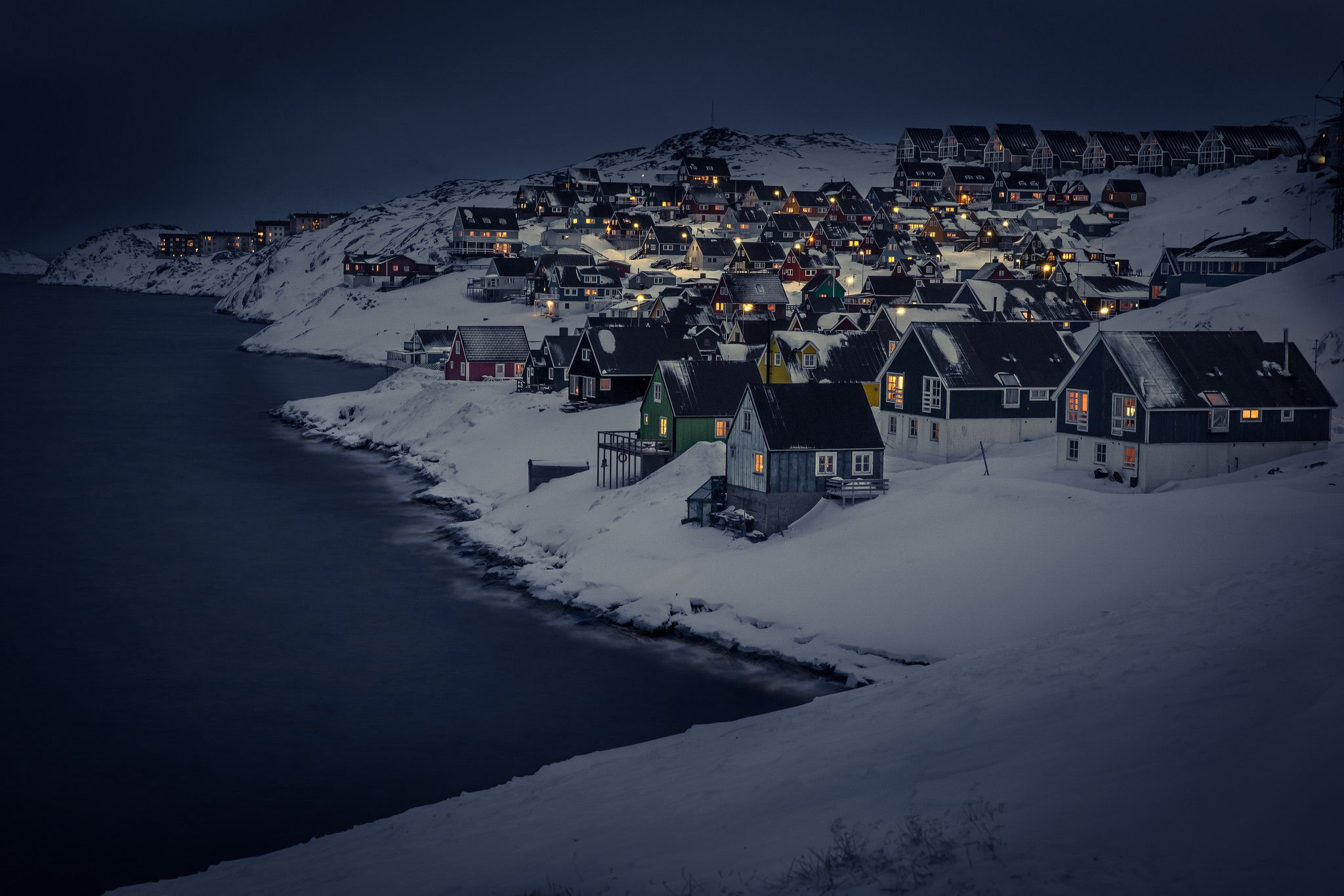 países con noches blancas groenlandia noche