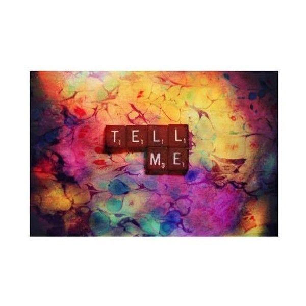 "Marmont Hill SC-58-C-18 12 Inch x 18 Inch ""Tell Me"" Giclee Art Print ($72) ❤ liked on Polyvore featuring home, home decor, wall art, canvas art, wall decor, home wall decor and giclee wall art"