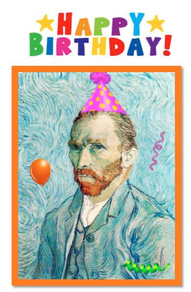 Van Gogh Happy Birthday Illustration Happy Birthday Greetings Birthday Illustration