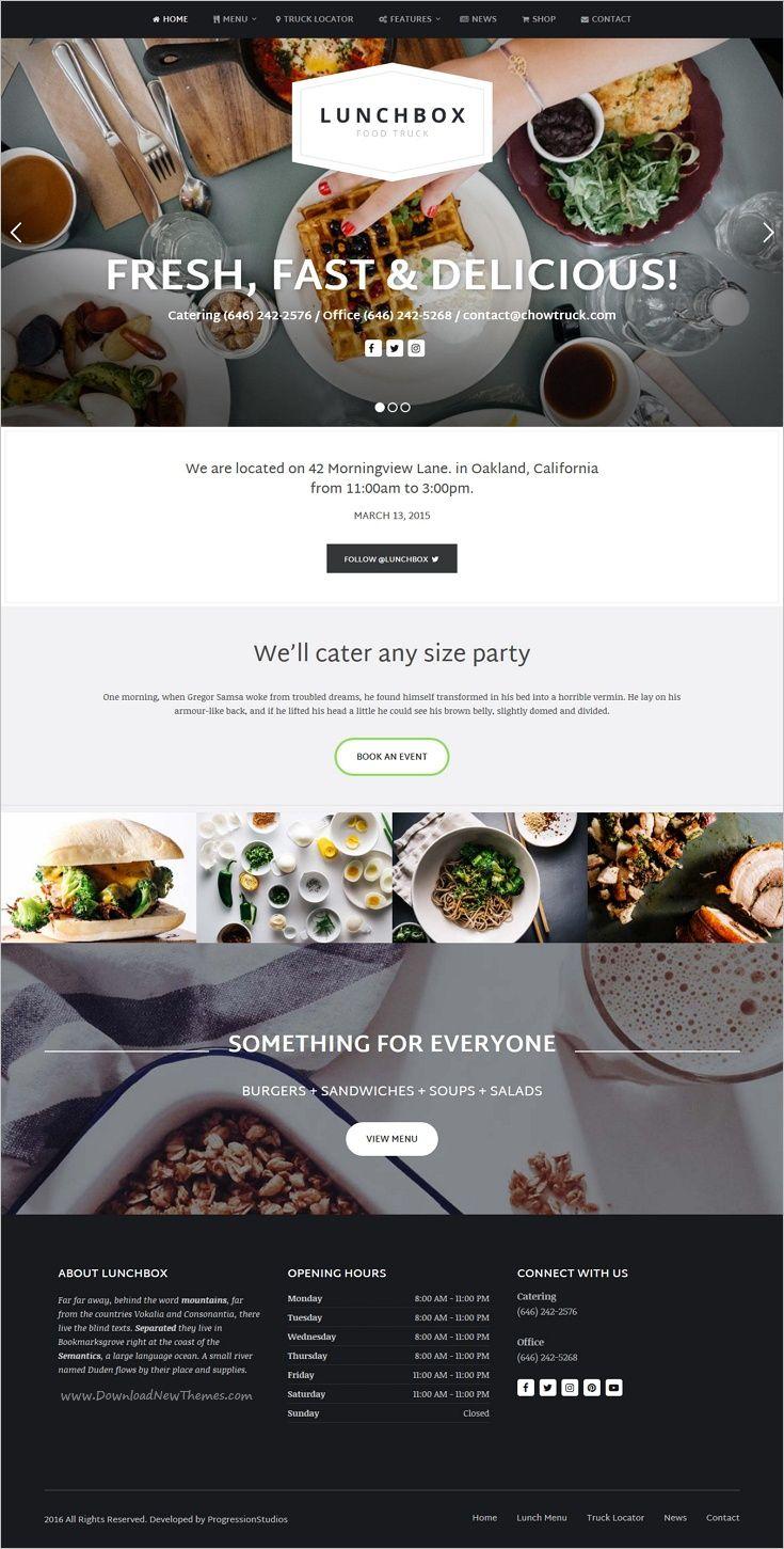 Beautiful Food Website Templates Images - Professional Resume ...