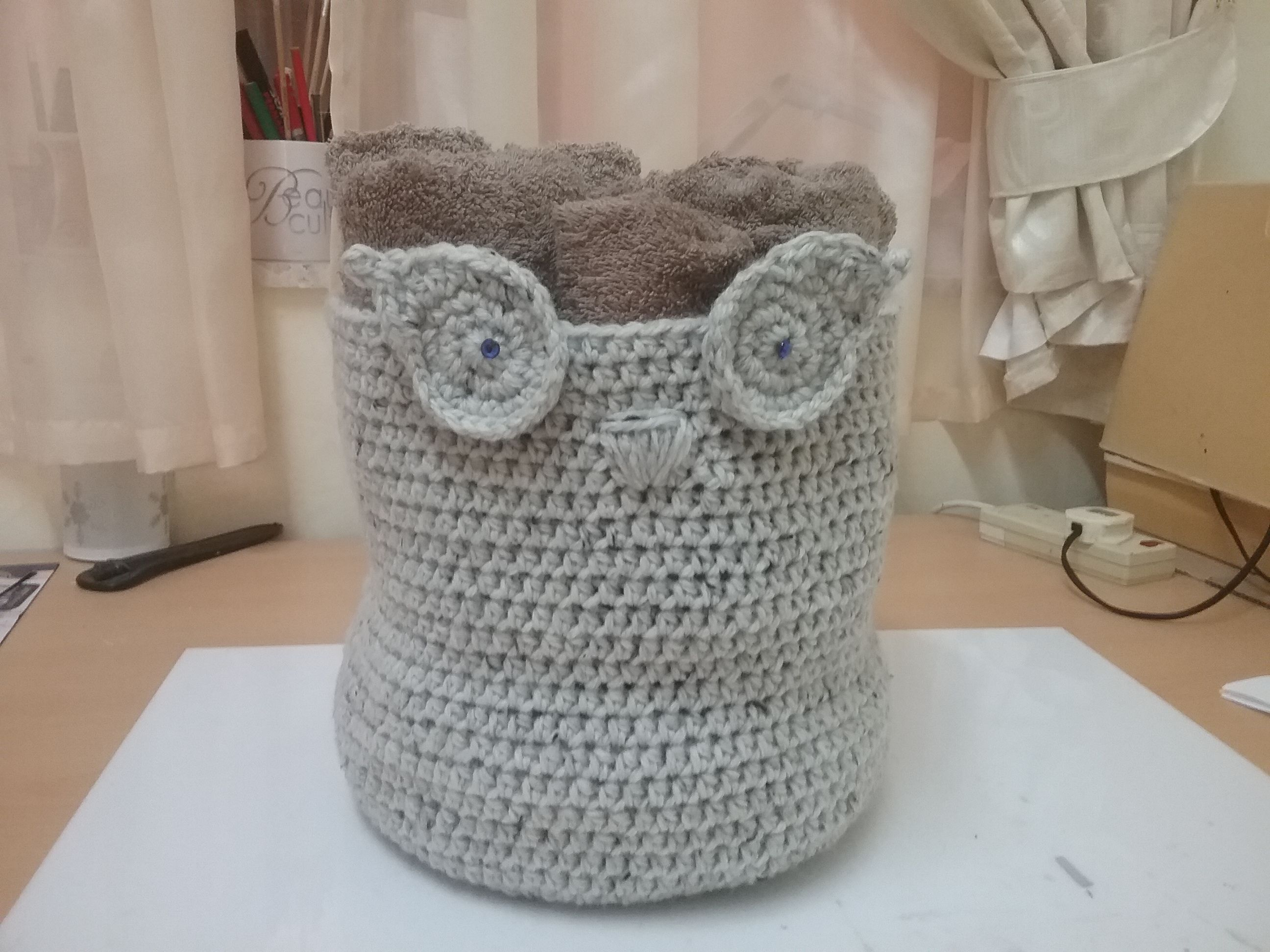 My crochet owl towel basket crochet pinterest crochet owls my crochet owl towel basket bankloansurffo Images