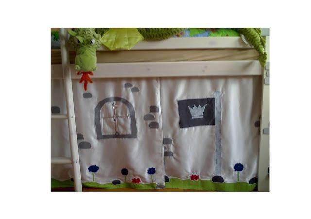 Lenabella-by: Vorhang für's Hochbett vom kleinen Ritter
