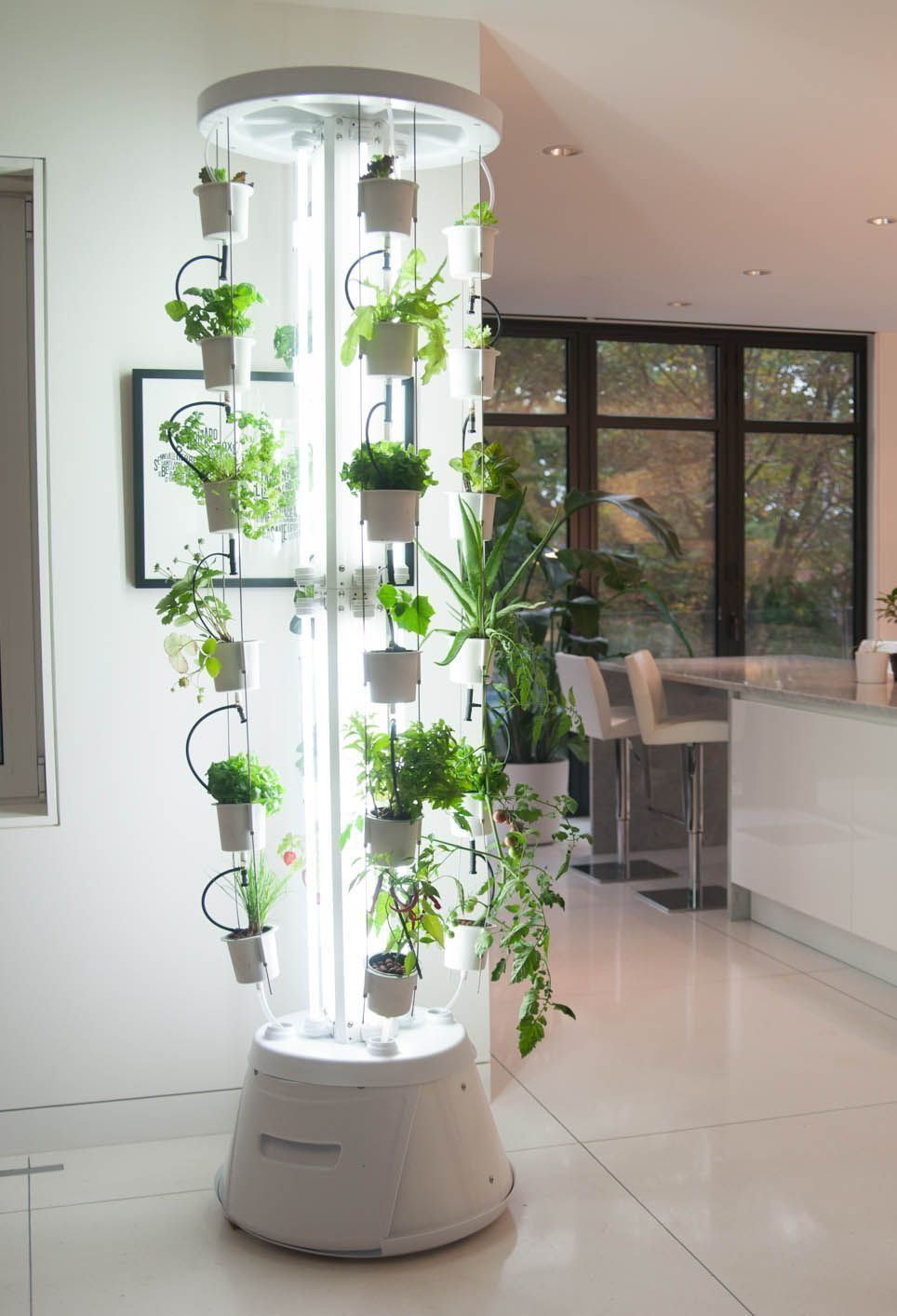 The NutriTower is a complete vertical hydroponic gardening