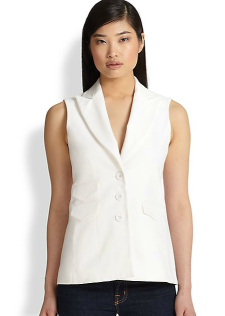 FALL TRENDS 2014 White Vest Saks Fifth Ave Collection On Sale