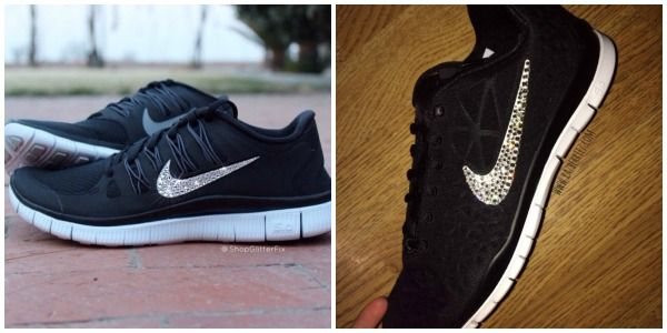Nike Glam: DIY Style - how to bling out your Nike Free Runs (or any running shoe)