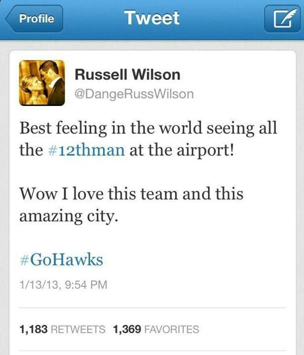 Russell Wilson - the man!!!