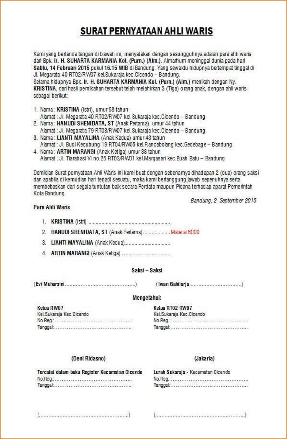 Surat kuasa umum dan khusus pidana