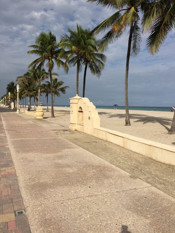 Hollywood Beach Florida Boardwalk