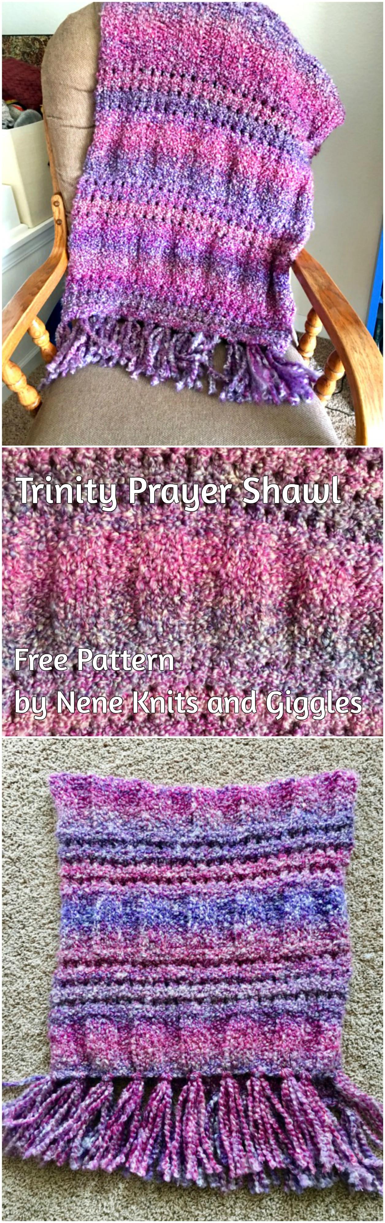 The Trinity Prayer Shawl: free knitting pattern using super bulky ...