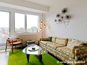Check Out This Charming 1 Bedroom Furnished Apartment In The Williamsburg Area Of Brooklyn Laced With Vint Furnished Apartment New York Apartments Furnishings