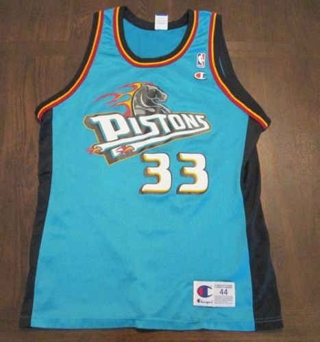 huge selection of 2b516 560a6 VTG-90s-Champion-Grant-Hill-33-Detroit-Pistons-Basketball ...
