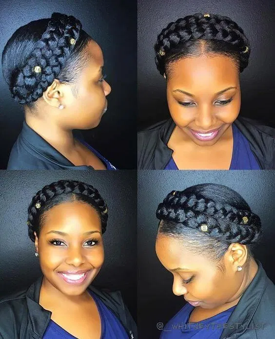 19 Amazing Halo Braid Hairstyles Pretty To Copy In 2020 In 2020 Protective Hairstyles For Natural Hair Halo Braid Natural Hair Natural Hair Styles
