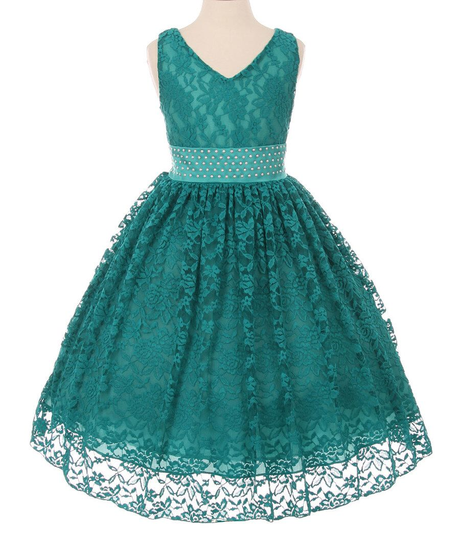 Look At This Teal Lace Embellished Sash Dress Toddler Girls On Zulily Today Toddler Girl Dresses Fall Flower Girl Dresses Toddler Dress [ jpg ]