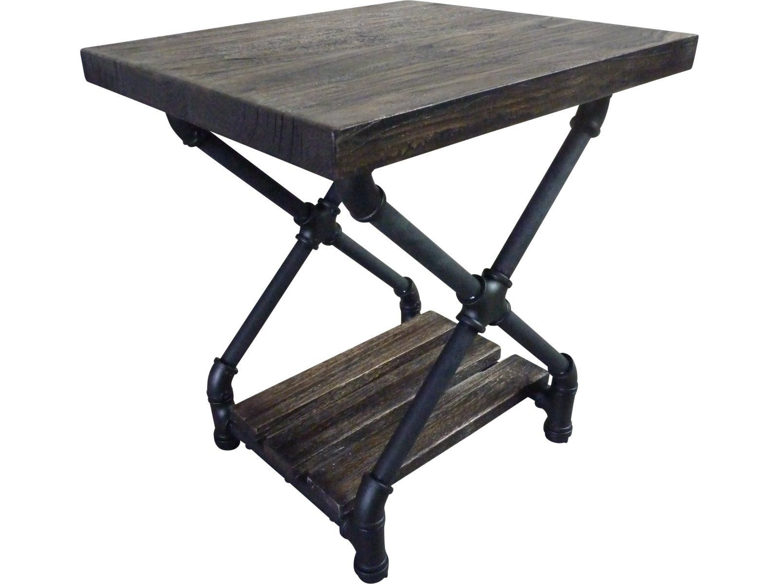 Houston Industrial Chic Side Table black right Furniture